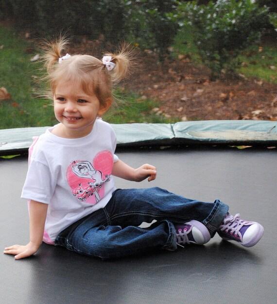CAPE Tshirt - Dancing and Daydreaming Princess Ballerina Design - No Personalization