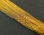 """15pcs 19"""" Each Gold Plated Curb Link Chain Unfinished Unsoldered- Bulk Lot"""