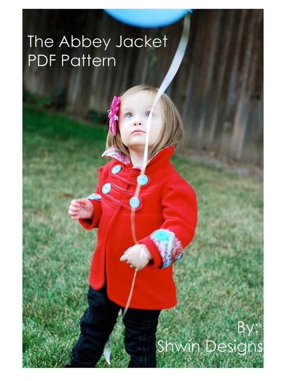 "The ""Abbey"" Jacket PDF pattern sizes 12m - 10years"