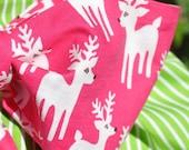 Reindeer Santa Sack in Pink