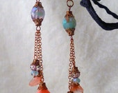 Sunset Romance - Czech glass earrings