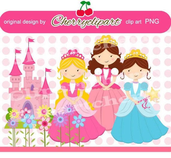 Princess Digital Clipart-Personal and Commercial Use-paper crafts, card making, scrapbooking