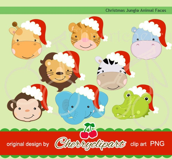 Christmas Animals Clipart Christmas Jungle Animals