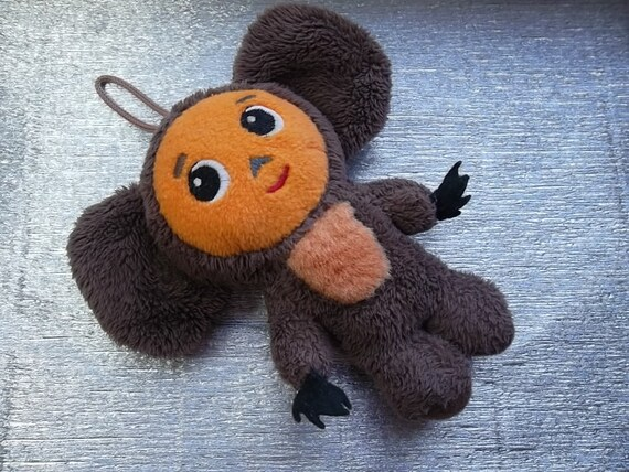 """rare vintage toy  """"Cheburashka"""", a character  children's cartoon. Made in the USSR."""