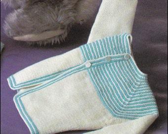 No.59 Baby Knitting Pattern PDF Vintage Baby's Garter Yoke Cardigan, Bonnet, Bootees - Baby Knitting Pattern 6 - 12 Months - Inst Download