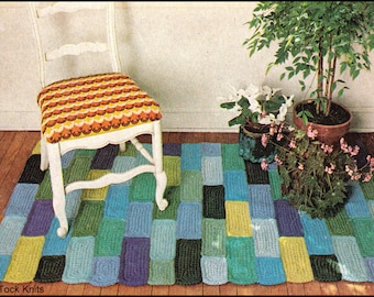 No.171 PDF Vintage Crochet Pattern - Cobblestone Rug - Crocheted Rug - Retro Crochet Pattern - Instant Download