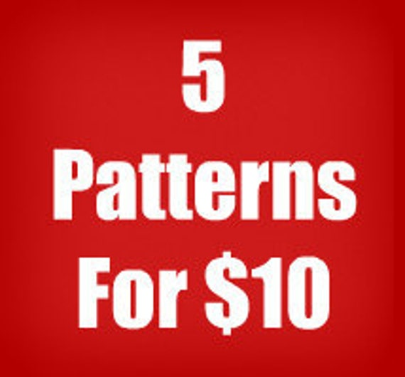 Any 5 Knitting, Crochet or Sewing Vintage PDF Patterns For 10 Dollars