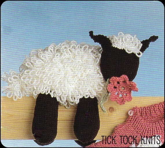 No.72 PDF Vintage Knitting Pattern Toy Sheep To Knit Baby