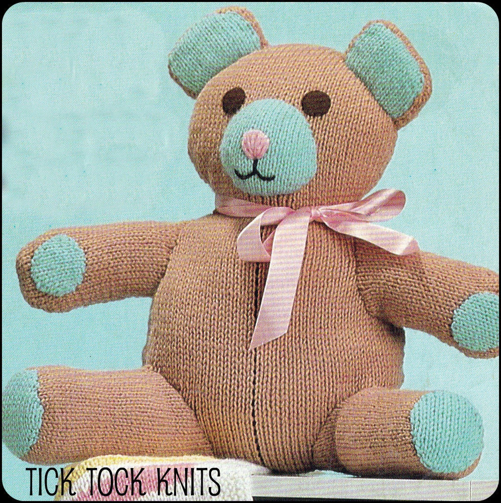 No.71 PDF Vintage Knitting Pattern Toy 16 Teddy Bear