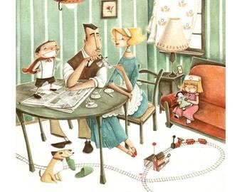 Print- Happy Family