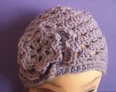 Adult Crochet Hat Ladies Crochet Hat for Adult,  Adult Crochet Hat With Flower