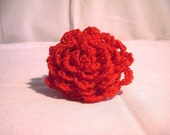 Crochet Brooch, Crochet Hair Clip, Crochet Hair Comb, Crochet Brooch Red
