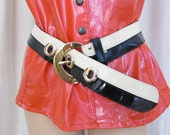 VALENTINO Vintage Lacquer Leather 60s Belt