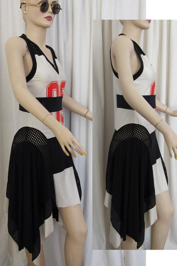 JEAN PAUL GAULTIER 90s Vtg Jersey Dress//Who is ready.-)