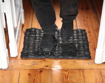 Handmade Upcycled Tire Doormat