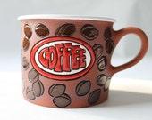 Coffee mug - coffee beans and coffee sign for coffee lovers