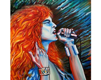 Original oil painting on canvas Robert Plant