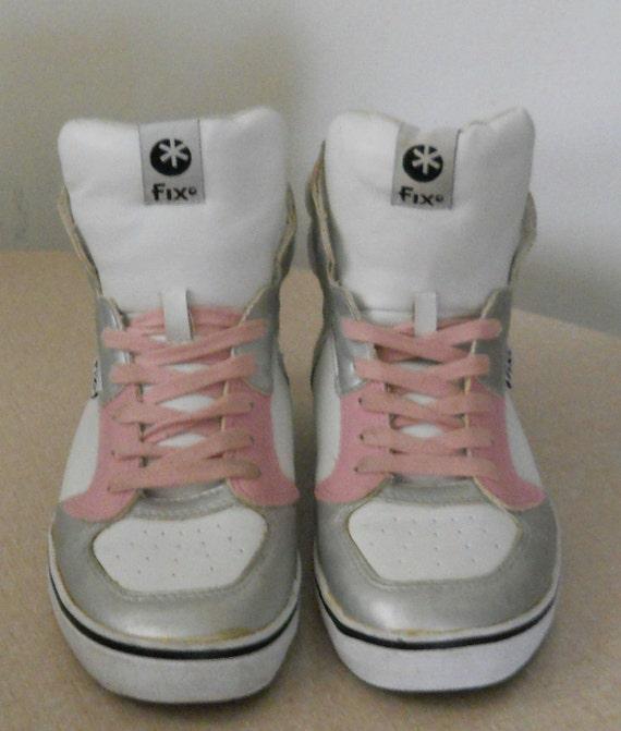 Old School 90s Shoes / Womens High Tops High Top Sneakers Steve Madden Fix Block 80s High Tops Pink High Tops High Tops 90s Metallic Silver