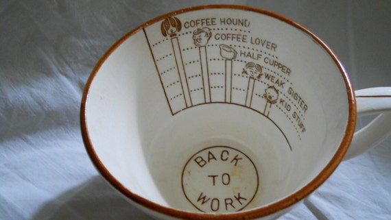 Large Antique Mug 1930s Vintage Funny Gift Joke Coffee Cup