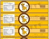 The Lion King - Water Bottle Labels - PRINTABLES