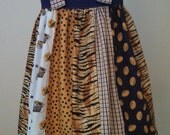 "LSU Boutique ""Strip"" Knot Dress Size 5"