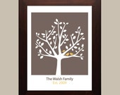 Personalized Family Tree - 8x10 ( Brown )