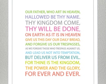 LORDS PRAYER - Multicolor- 11x14