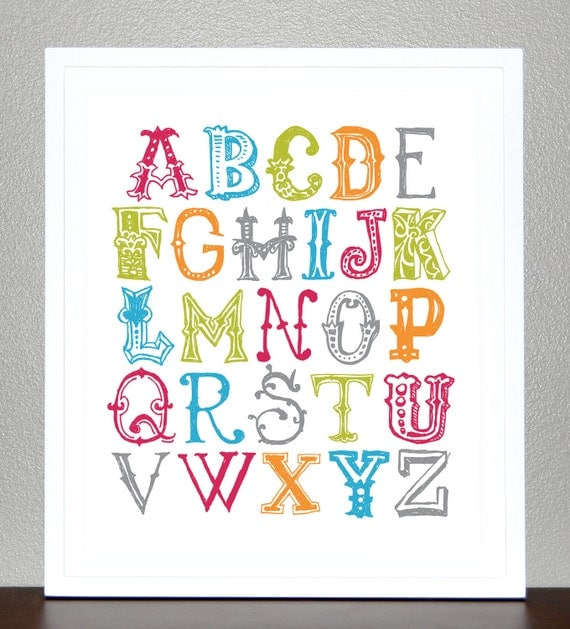 Dramatic image throughout alphabet poster printable