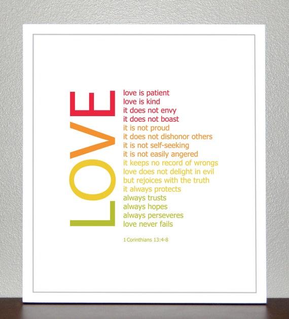 Love Bible Verse 1 Corinthians 13 4 8 By Creativewildchild
