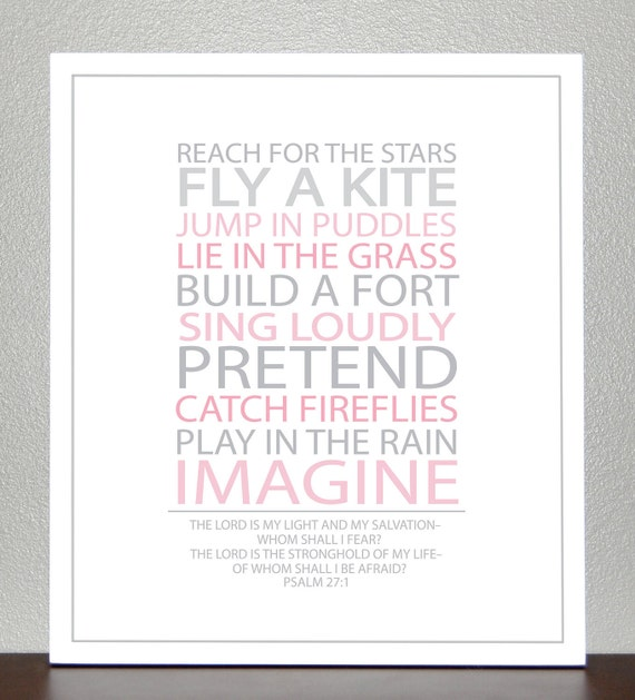Christening gift - BE A KID - With Bible Verse - 8x10 Print