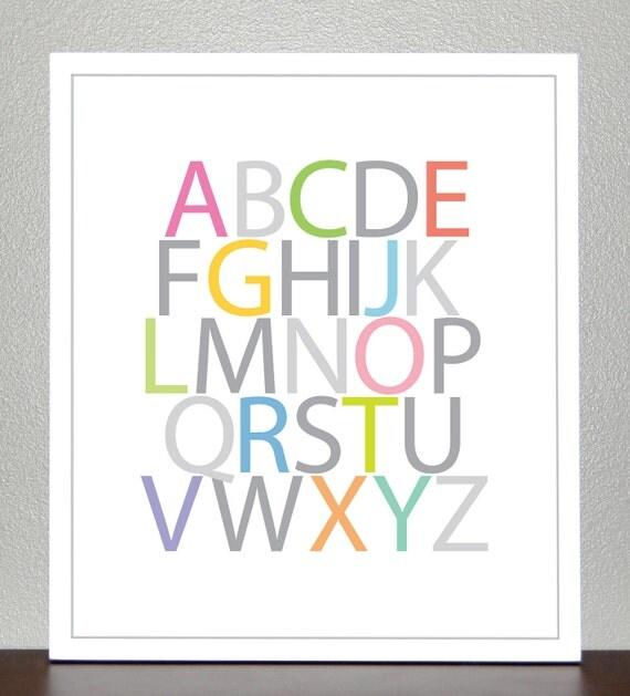 Alphabet Poster- 11x14