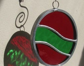 Stained Glass Hanging Holiday Ornament