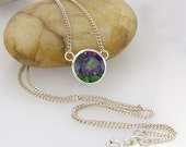 10mm Mystic Topaz Necklace Pendant - LIMITED EDITION - including sterling silver chain of your choice