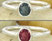 Alexandrite engagement ring - Sterling Silver Ring - Rare and Unique Natural Earth Mined Gemstone