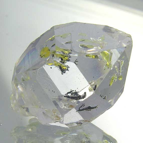 Herkimer Diamond Quartz Crystal 21.90cts - 20mm x 16mm - Museum Quality - Rare Powerful Crystal - Visible Moving Enhydro Bubbles