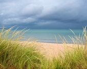 "Glen Arbor, Michigan---A photograph of a beach landscape infused onto a 24x16"" high-gloss metal plate"