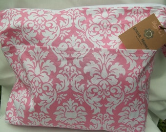 Large Wet Bag with Dry Pocket (Your choice of fabric)