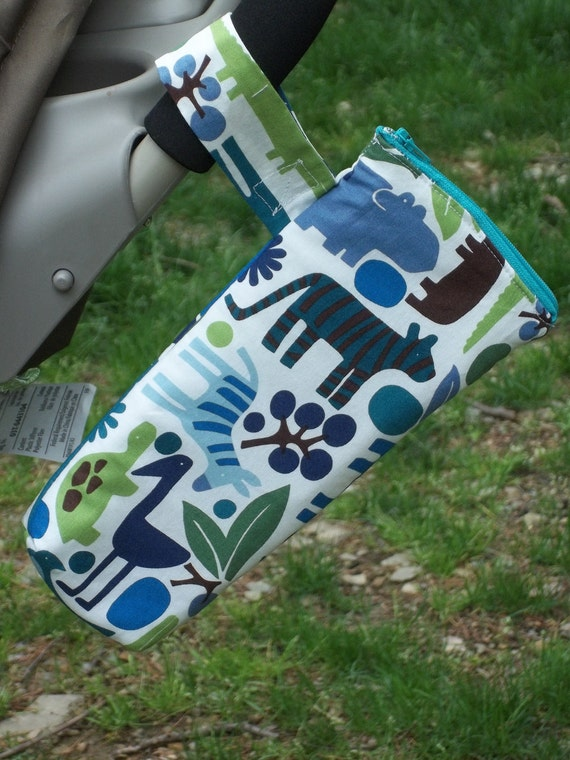 Insulated Baby Bottle Bag with Heat Sealed Lining (your choice of fabric)