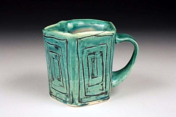 Rectangle Ceramic Cup