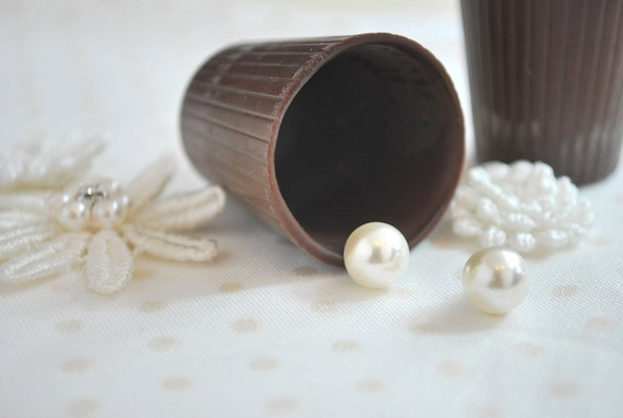 Super Cute Faux Pearl Stud Earrings NEW Titanium Post