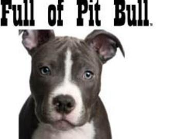 Pitt Bull (Blue) dog tea towel, funny gift