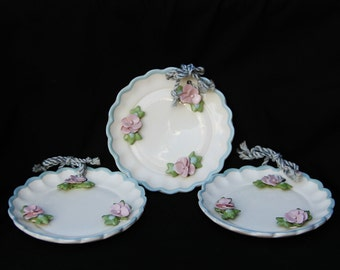 Cleminsons hand painted 5 1/4 inches plates or picture frames