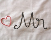 Mr. and Mrs. Embroidered Pillowcases