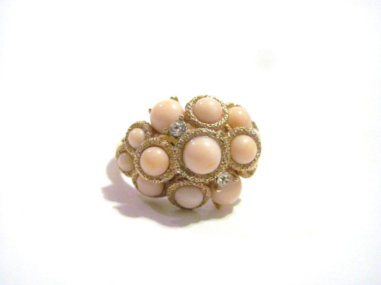 Vintage Avon Ring Arabesque Cluster