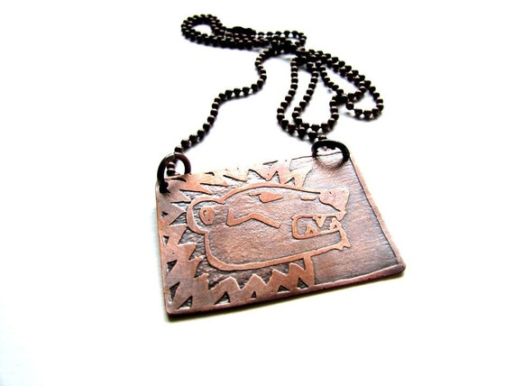 GRYFFINDOR Small House Pride Etched Hogwarts Necklace