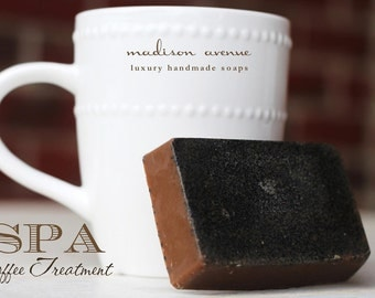 Handmade Coffee Grind and Shea Butter  Spa Bar Soap for Cellulite Treatment and Skincare