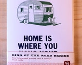 Letterpress Greeting Card - Home is where you hang your hitch