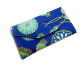 Long clutch wallet, blue green Sale, discontinued, discounted