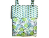 Blue green wet bag kitchen hanging dots floral lavender purple spots waterproof