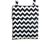 Eco friendly Black chevron Wet bag Kitchen unpaper towel waterproof hanging cloth diaper baby nursery